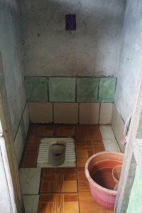 ミャンマー、一般家庭のトイレ
