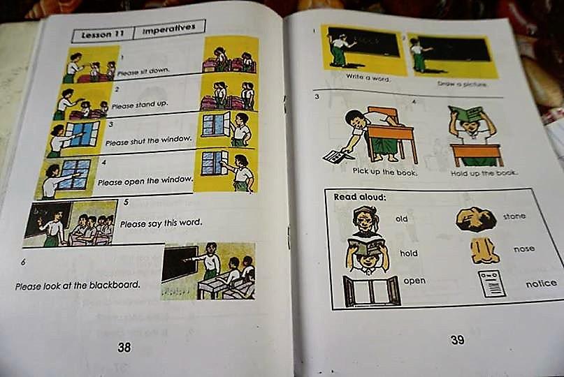 ミャンマーの英語の教科書