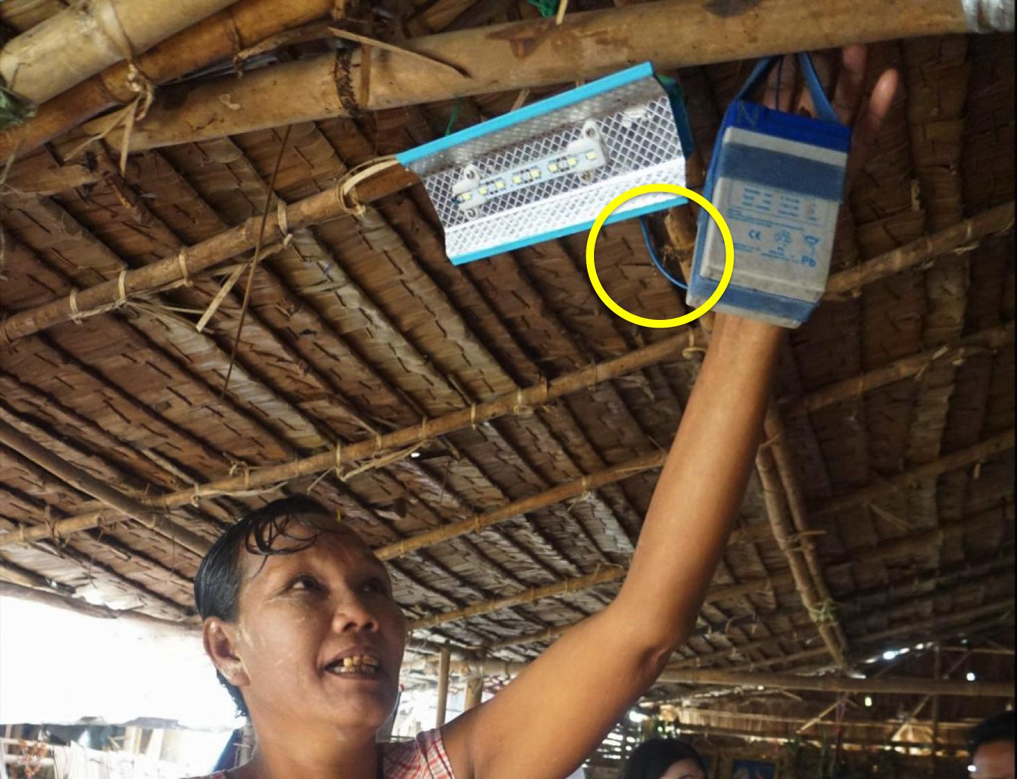 貧困層-電気