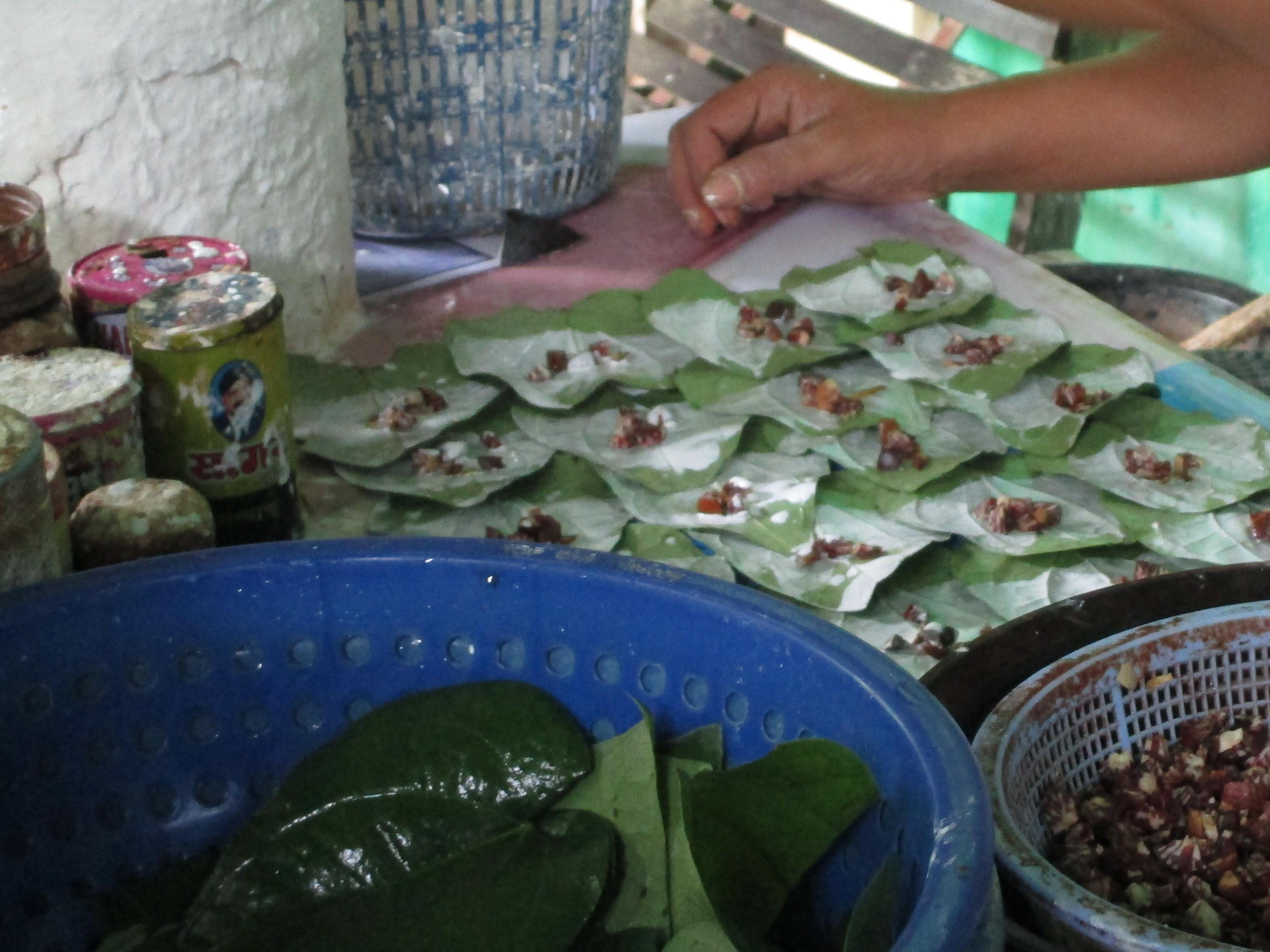 ミャンマーの噛みタバコ