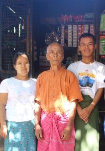 ミャンマー人の家族