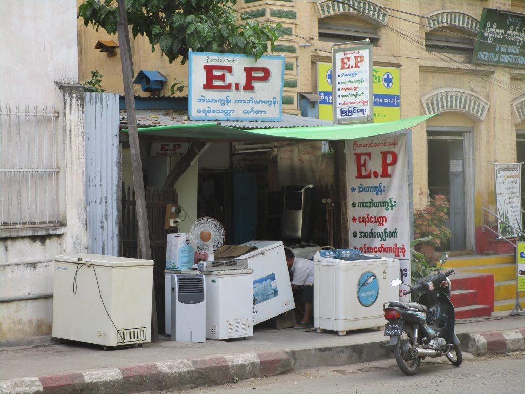 ミャンマーの中古家電