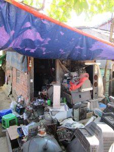 ミャンマーの貧困地域の家