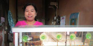 ミャンマーの働く女性
